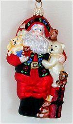 Santa Ornaments Blown Glass Christmas Ornaments, Santa Ornaments, Santa Christmas, Bear Hugs, Holiday Decor, Friends, Amigos, Boyfriends