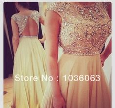 Free Shipping Sexy Backless Long Prom Dresses Chic Elaborated Chiffon Evening Party Gowns Vestido Formales 2014-in Prom Dresses from Apparel...