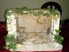 ESTABLO PEQUEÑO Frame, Home Decor, Stables, Births, Palm Trees, Roof Tiles, Nativity Sets, Nativity Scenes, Little Cottages