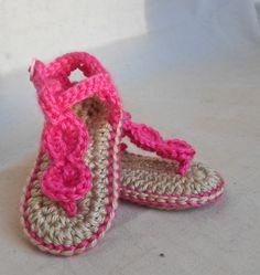 Baby Beach Sandals  Crocheted