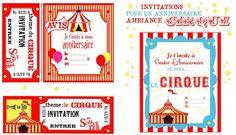 invitation anniversaire cirque