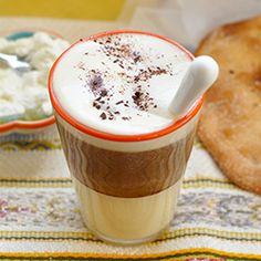 You can't go wrong with #coffee, condensed milk, and whipped cream.
