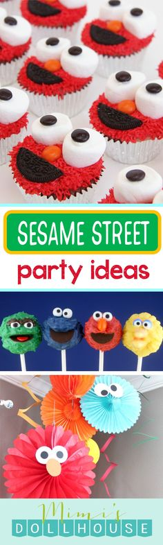 Sesame Street Party: Sesame Street Birthday Ideas. Looking for some Sesame Street birthday party inspiration? For more Elmo Party inspiration and party ideas, be sure to check out ourSesame Street Partyposts. via @mimisdollhouse