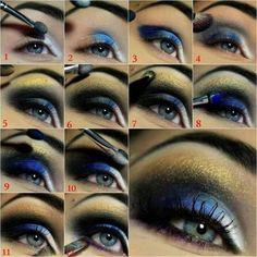 Stylish Blue Eye Makeup Tutorial