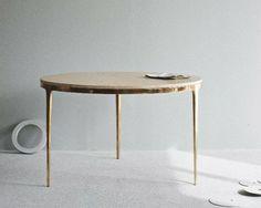 Furniture / Bronze Table by Daniel Barbera. Furniture / Bronze Table by Daniel Barbera. Furniture Dining Table, Home Furniture, Furniture Design, Dining Tables, Concrete Furniture, Dining Chair, Dining Rooms, Contemporary Interior, Decoration