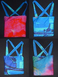 Wende-Umhängetasche - Auf einem Stofftaschen-Workshop gefertigt, entstand sie in der Nähschule Nähhausen, in München bei Britta und Gabi.    fabricdesign © Rudolf Büttner