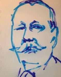 いいね!1件、コメント1件 ― @1mindrawのInstagramアカウント: 「#1mindraw #arthurconandoyle #アーサーコナンドイル #18590522 #birthday #誕生日 #portrait #筆ペン画」