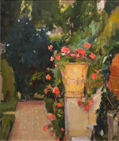 huariqueje:  Red Gitanillas at the Sorolla House - Joaquin Sorolla i Bastida Impressionism