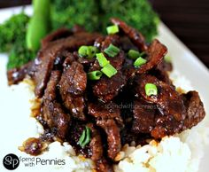 P.F. Chang's Style  Mongolian Beef!  Easy and Amazing! Love it?  Pin it to SAVE it! Follow Spend With Pennies on Pinterest for more great recipes! I do not have a P.F. Chang's anywhere near me....  I know, very sad!!  It is definitely one of my...
