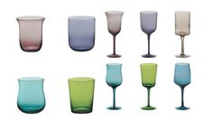 Bitossi 'Desigual' glasses - sweet home. Home decor design green aqua teal turquoise