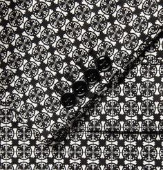 Pattern detail on Alexander McQueen Printed Cotton Blazer