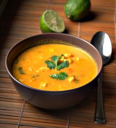 Asian Cauliflower Soup -(red curry paste,fish sauce,coconut milk,lemon grass, lime, cilantro, etc)