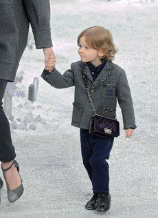little boy modeled in Chanel 2012 fashion show