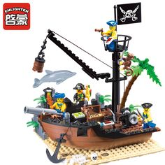 ENLIGHTEN 306 Pirate Ship Scrap Dock Building Blocks  Model Toys Compatible With Legoe For Children-in Blocks from Toys & Hobbies on Aliexpress.com | Alibaba Group