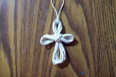 How to Make a String Cross Necklace