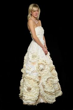 Bohemian Wedding Dress  Flower Wedding Dress  One of a by AvailCo, $2100.00