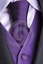 Purple manly attire