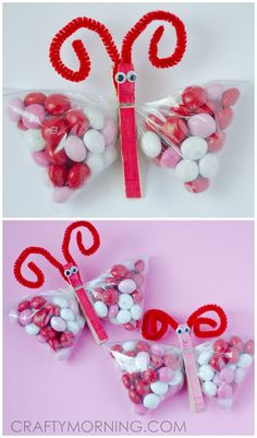 Elegant Mu0026M Butterfly Treats For Valentineu0027s Day! Cute Gift Idea From The Kids.