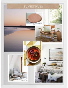 Sunset Hues - created using the House Rules powered by Home Beautiful App. House Rules, Mood Boards, Gallery Wall, Tapestry, App, Sunset, Beautiful, Home Decor, Hanging Tapestry