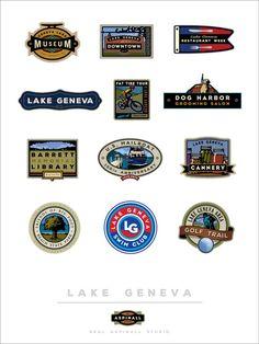 C Neal Aspinall Studio Logo Digital Studio Print Portfolio Samples, Downtown Restaurants, Poster Store, Restaurant Week, Lake Geneva, Studio Logo, Giclee Print, Digital Prints, Logos