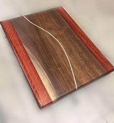 Beautiful Walnut w/ sapping & Jarrah, curved Maple Stripe. 1979woodwork.com