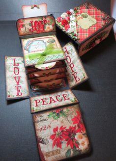 Moshie's Moments:  Graphic 45 mini Album Christmas match box