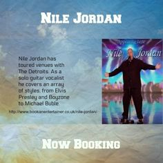 Touring venues with The Detroits and as a solo guitar vocalist covering an array of styles, from Elvis Presley, Boyzone to Michael Buble, Nile Jordan is equally at home performing at #weddings or birthday parties. Ask for a quote to cover your event. Now booking 2018 dates in the diary.