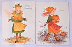 Set of 6 Fall Child Themed Greeting Cards by CandyAppleCrafts, $12.00