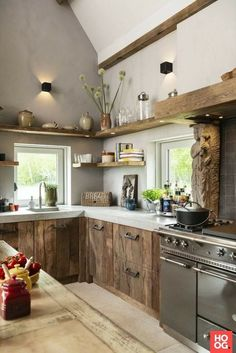 Home Decor Kitchen, Rustic Kitchen, Interior Design Kitchen, Kitchen Furniture, Home Kitchens, Beautiful Kitchen Designs, Beautiful Kitchens, Sweet Home, Home Remodeling