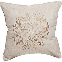Embroidery Linen Decorative Pillow Cover - Three Colors Available – USD $ 19.99