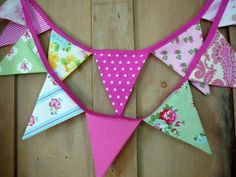 Bunting Banner  Fabric Banner  Fabric by ScarlettsCozyCottage, $25.00