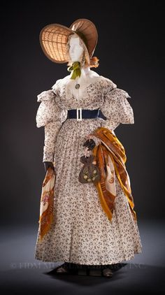 Image result for 1830 dress with stuffed hem