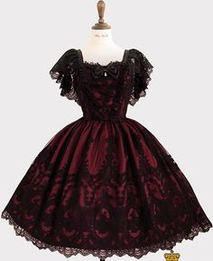The Promise of Eternal JSK by Haenuli Gothic Lolita Fashion, Gothic Outfits, Edgy Outfits, Cute Casual Outfits, Pretty Outfits, Pretty Dresses, Beautiful Dresses, Old Fashion Dresses, Fashion Outfits