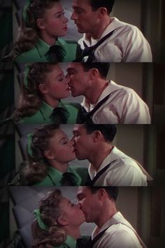 Gene Kelly kiss.