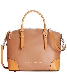 """Strike it rich with the gorgeous Claremont Domed Satchel from Dooney & Bourke, featuring plenty of pockets and a bold pop of color both inside and out. 