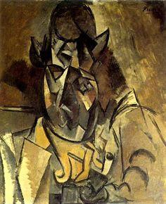 Homme au chapeau (Portrait de Braque) 1909. Pablo Picasso (1881-1973)