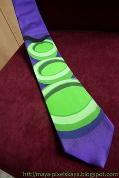 Day of the tentacle Tie Day Of The Tentacle, Lucas Arts, Geek Chic, Maya, Geek Stuff, Fun Stuff, Tie, Purple, My Style