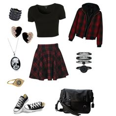 Untitled #14 by birdiesmind on Polyvore featuring polyvore fashion style Topshop R13 Boohoo Converse Frye Yves Saint Laurent Valentino Anne Klein Bling Jewelry Accessorize