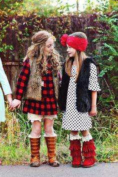 Kids fashion | photography | Gypsy Kids | buffalo dress | polka dot | joyfolie