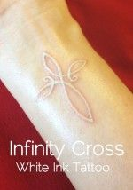 Beautifully Done! White Ink Tattoo Of An Infinity Cross Actually Thinking About Getting A Small White Tattoo Pretty Is An Understatement. | ...