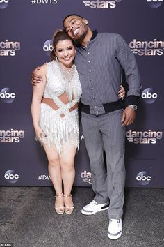 Friendly competition: Fellow finalists actress Justina Machado, 48, and rapper Nelly, 46, posed for photos together ahead of the final dance off