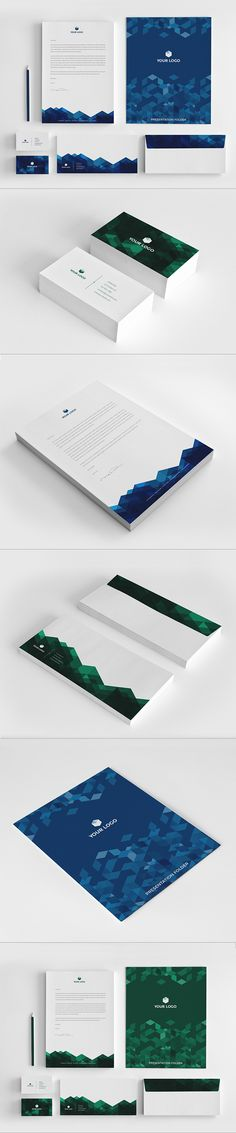 Business Stationary Pack by Abra Design, via Behance