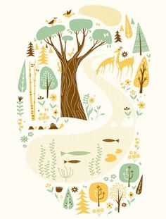 motleycraft-o-rama:  Woodland Print, by Lab-Partners, on Flickr.