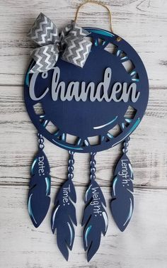 This item is unavailable Hospital Door Hangers, Baby Door Hangers, Holiday Decorating, Decorating Ideas, Cute Names, Birth Announcements, Baby Ideas, Random Things, Dream Catcher