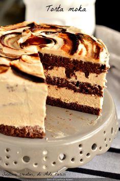 Italian Desserts, Köstliche Desserts, Delicious Desserts, Mocha Chocolate, Chocolate Recipes, Sweet Recipes, Cake Recipes, Dessert Recipes, Charlotte Torte