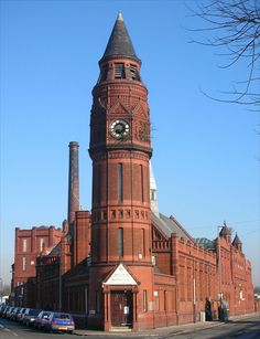 Green Lane Masjid, a mosque, on Green Lane, Small Heath, Birmingham, England. Built as a public library and swimming baths, designed by local architects Martin & Chamberlain, 1893-1902