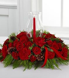 Image detail for -... Holiday Centerpiece - PREMIUM - Christmas & Holiday Flowers - Flowers