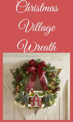 Christmas Decorations Christmas Village LED Pre-Lit Wreath will lighten up your home and make you feel the magic of Christmas. Woodland Christmas, Unique Christmas Gifts, Beautiful Christmas, Christmas Christmas, Christmas Themes, Holiday Gifts, Christmas Wreaths, Christmas Decorations, Christmas Ornaments