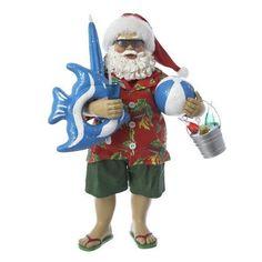 Kurt Adler Fabriche Tropical Santa Figurine, 10-Inch #KurtAdler