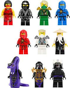 10 x lego ninjago mur stickers vinyl couleur complte mini figurine ebay